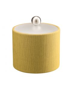 1qt Ice Bucket w/ Acrylic Cover & Brushed Stainless Ball Knob: LINEN MOSS