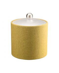 2qt Ice Bucket w/ Acrylic Cover & Brushed Stainless Ball Knob: LINEN MOSS