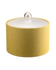 Mesa Ice Bucket w/ Acrylic Cover & Brushed Stainless Ball Knob: LINEN MOSS