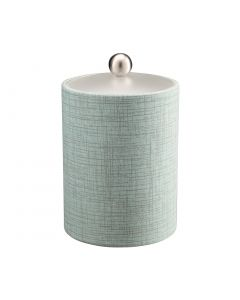 Tall Ice Bucket w/ Acrylic Cover & Brushed Stainless Ball Knob: MUSE CELESTIAL