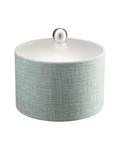 Mesa Ice Bucket w/ Acrylic Cover & Brushed Stainless Ball Knob: MUSE CELESTIAL