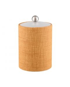 Tall Ice Bucket w/ Acrylic Cover & Brushed Stainless Ball Knob: MUSE TUSCAN HILLS