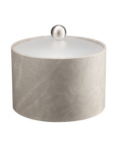 MESA Slate Grey Ice Bucket w/ Acrylic Cover & Brushed Stainless Ball Knob
