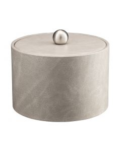 MESA Slate Grey Ice Bucket w/ Material Cover w/  Brushed Stainless Ball Knob