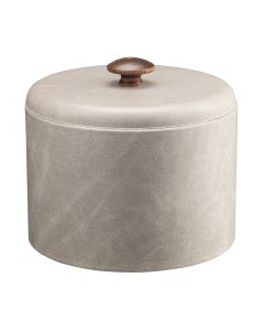 MESA Slate Grey Ice Bucket w/ Dome Material Cover w/ Brown Mushroom Knob