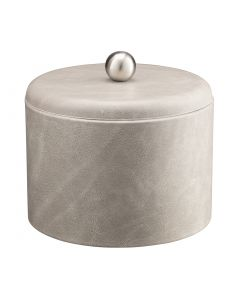 MESA  Slate Grey Ice Bucket w/ Dome Material Cover w/  Brushed Stainless Ball Knob