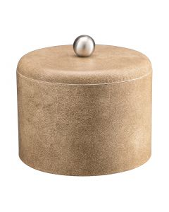 MESA Vanilla Ice Bucket w/ Dome Material Cover w/  Brushed Stainless Ball Knob