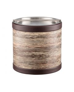 3qt Ice Bucket w/ Stainless Handlebar Cover: QUARRY BROWN STONE