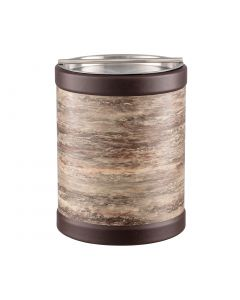 TALL Ice Bucket w/ Stainless Handlebar Cover: QUARRY BROWN STONE