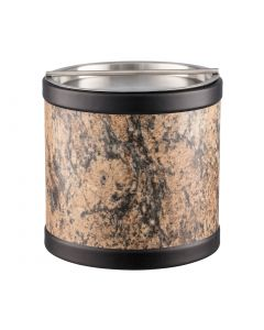 3qt Ice Bucket w/ Stainless Handlebar Cover: QUARRY RUSSET STONE