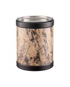 TALL Ice Bucket w/ Stainless Handlebar Cover: QUARRY RUSSET STONE
