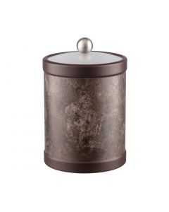 Tall Ice Bucket w/ Acrylic Cover w/ Brushed Stainless Ball Knob: QUARRY TUNISIA STONE