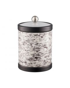 TALL Ice Bucket w/ Acrylic Cover w/ Brushed Stainless Ball Knob: QUARRY AMARILLO STONE