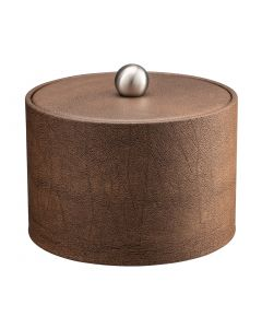 MESA Coffee Italia Ice Bucket w/ Material Cover w/  Brushed Stainless Ball Knob