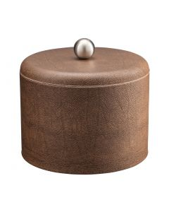 MESA Coffee Italia Ice Bucket w/ Dome Material Cover w/  Brushed Stainless Ball Knob
