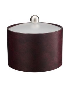 MESA Designer Clare Ice Bucket w/ Acrylic Cover & Brushed Stainless Ball Knob