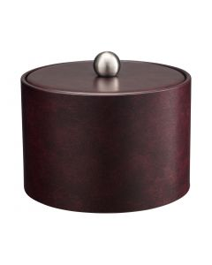 MESA Designer Clare Ice Bucket w/ Material Cover w/  Brushed Stainless Ball Knob