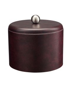 MESA Designer Claret Ice Bucket w/ Dome Material Cover w/  Brushed Stainless Ball Knob
