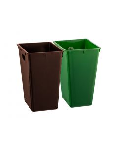 Recycle Liners for (-90) Style WB - (S/2: 1 Brown & 1 Green W/ Mobius)