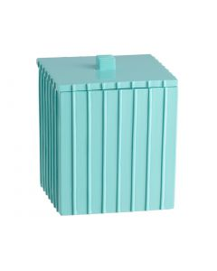 Square Covered Lid Jar: TURQUOISE PLATFORM