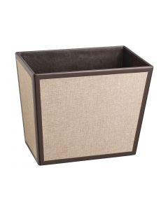 Frieze Chocolate & Linen - Rectangle Waste Basket - (Liners Sold Separately)