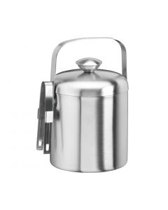 Brushed 1.5 Qt. Ice Bucket W/Tong