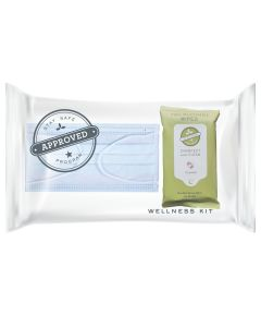 Guest Stay Safe Check-in Bundle #2 (Face Mask & Sanitizing Wipes) #930005