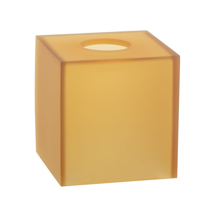 Boutique Tissue Holder Ghost Amber Frost